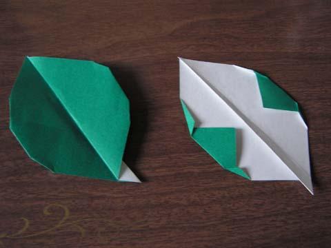 クリスマス 折り紙 折り紙バラの葉折り方 : chinjuh.mydns.jp
