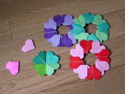 クリスマス 折り紙 折り紙 ハート 折り方 : chinjuh.mydns.jp