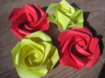 簡単 折り紙 折り紙 バラ 簡単 立体 : chinjuh.mydns.jp