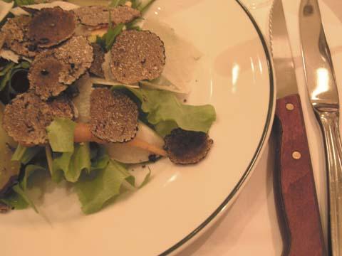トリュフと水菜のサラダ