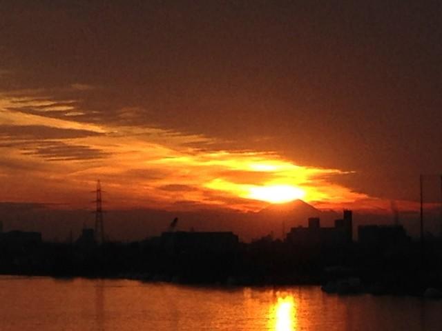 ダイヤモンド富士(新中川橋)