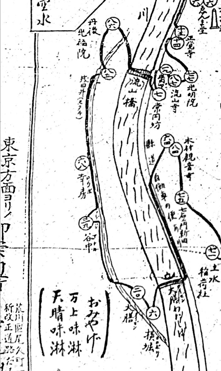 江戸川八十八ヶ所三郷市内略図